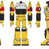concept art for Hard Hero Sunstreaker statue