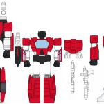 concept art for Hard Hero Sideswipe statue