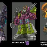 Here's artwork for the Titans return poll that I provided for Hasbro for the fall 2015 poll. (Trypticon was the winner!)