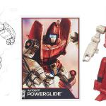 This Powerglide art was also used in the TF Legends series and reused as card art for the Legends toy.
