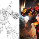 Here's another piece that doubled as a TF legends piece, and card cart for the Combiner Wars Legends Rodimus figure.
