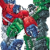 Colored final art (over Marcelo Materes pencils) for Classics series Optimus Primevs. megatron DVD cover illustration for pack-in with toy 2 pack.