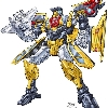 pencilled art for toy packaging on Botcon 2010 convention release Sunstreaker toy