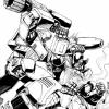 Cover to Transformers Timewars reprints comic